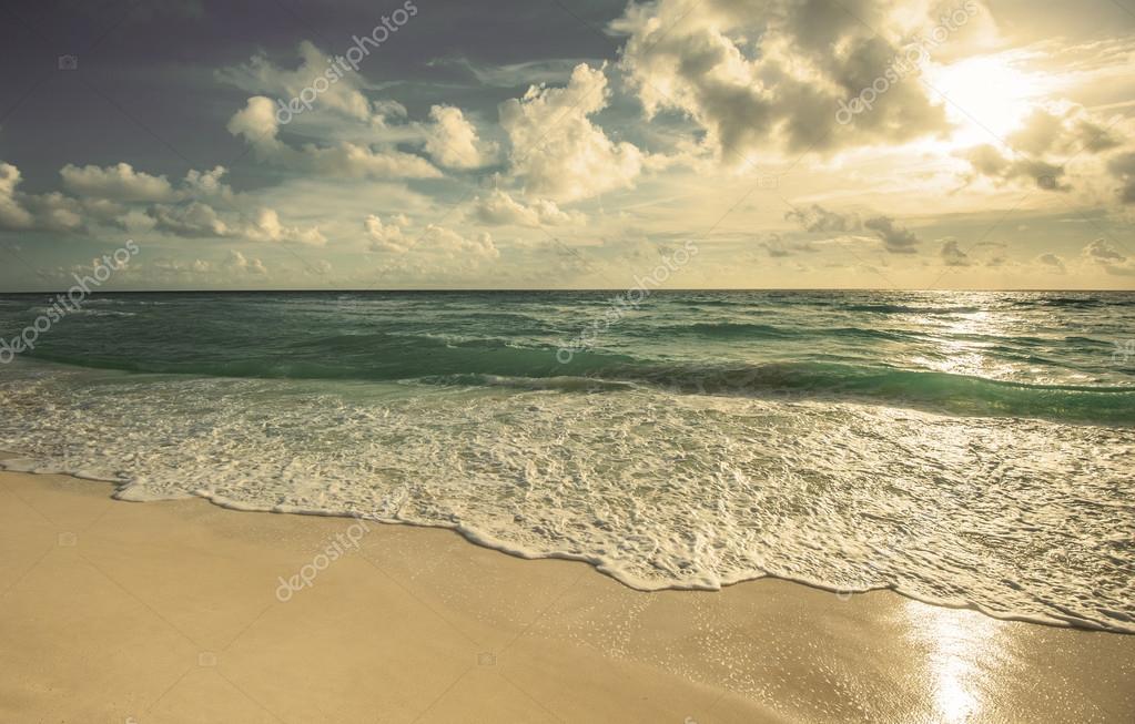 Retro style of beach