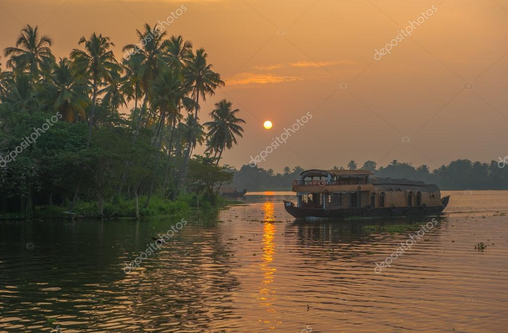 Backwaters of Kerala at sunrise