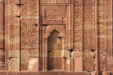 Carved walls of Qutub Minar complex
