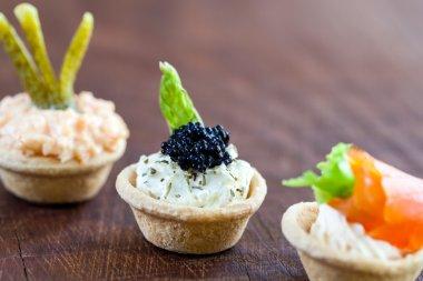Mini savory tartlets