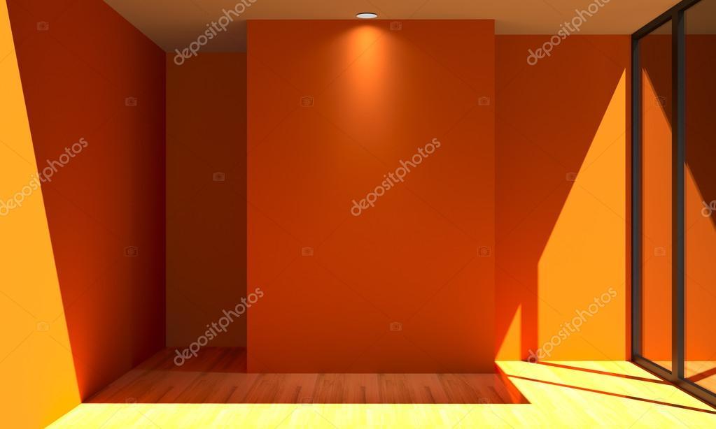 Pareti Colore Arancione : Parete di colore arancione stanza vuota u2014 foto stock © sumetho #52084929