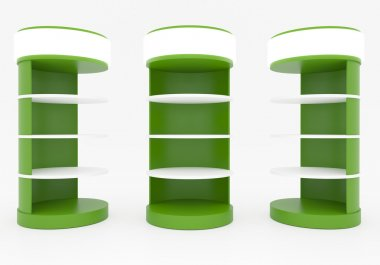 Green Circular Shelves