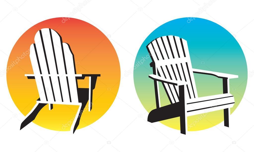 adirondack chairs on beach sunset. Plain Chairs Adirondack Chair Sunset Graphics U2014 Stock Vector Throughout Chairs On Beach A