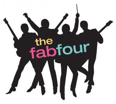 Fab Four Beatles Silhouette Vector Illustration