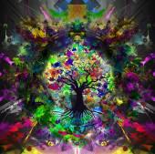 abstraktní barevné strom