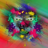 Oko na barevném pozadí