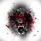 Fotografie Abstraktní vlkodlak