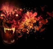 Fotografie Abstraktní pozadí krvavého vlkodlak