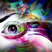Mystic eye symbol