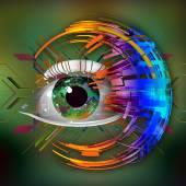 Photo Human eye background