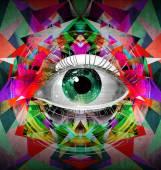 Fotografie Human eye on creative background