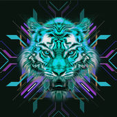 Fotografia Colorful illustration of tiger