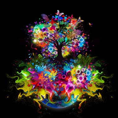 abstract multicolored Tree