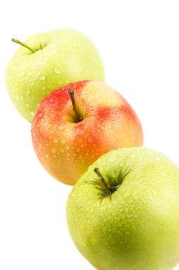 "Картина, постер, плакат, фотообои ""Яблоки красный и зеленый."", артикул 84875094"
