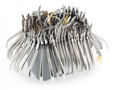 A large set of orthodontic pliers