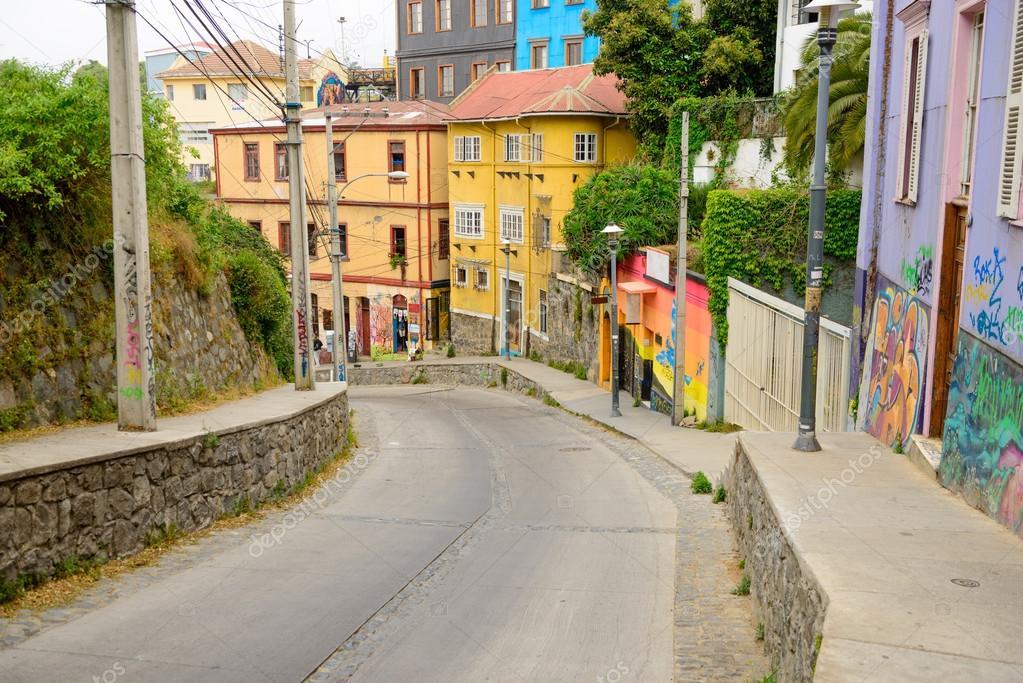 The streets of Valparaiso,