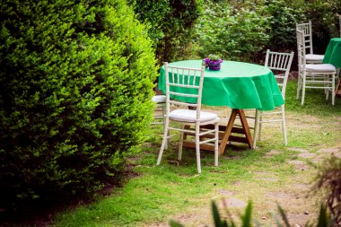 Table and chairs for the garden.