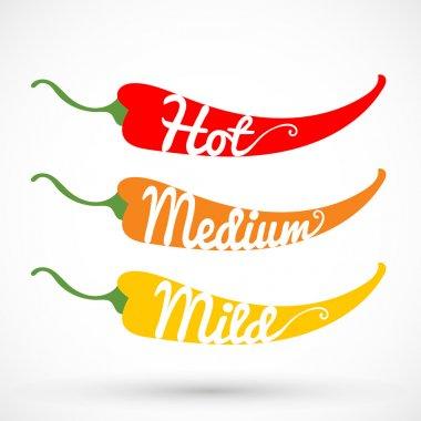 Chilli  peppers icon, vector illustration clip art vector