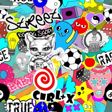 Colorful stickers background