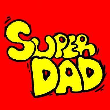 Emblem of super dad