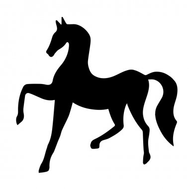Silhouette of black horse