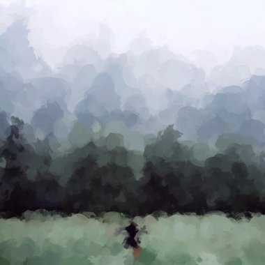 Abstract Fantasy landscape