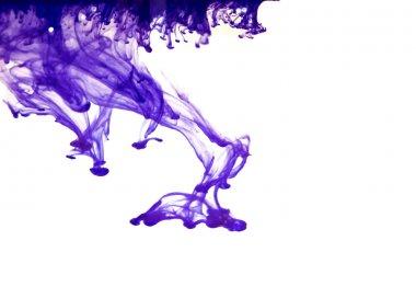 Violet ink in water