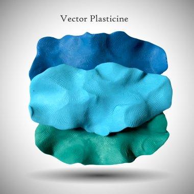 Plasticine blue figure