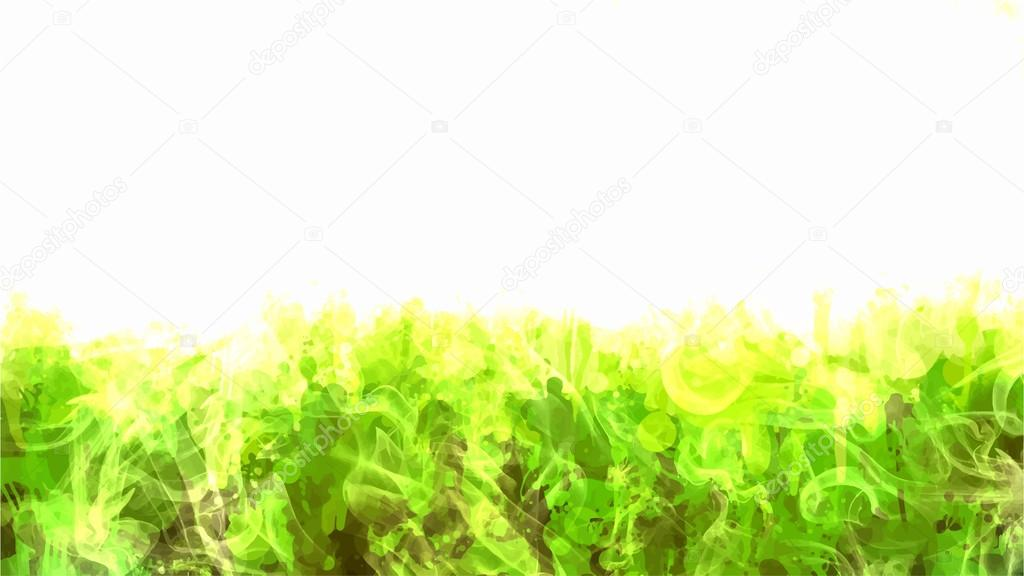 Green smoke brush strokes — Stock Vector © shekaka #72337981