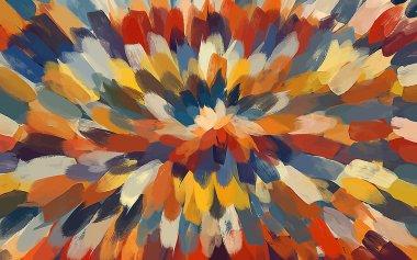 Flower multicolor brush strokes background