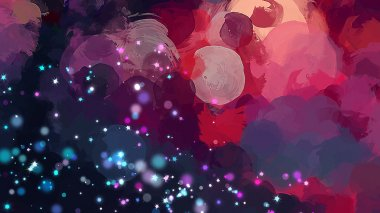 Starry round brush strokes background