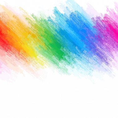 Rainbow chalk brush strokes background