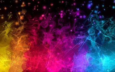 Sparkles multicolor smoke background