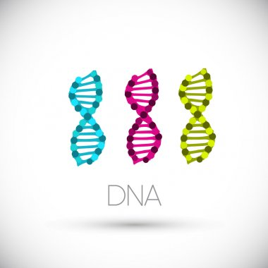 Colorful symbols DNA strands