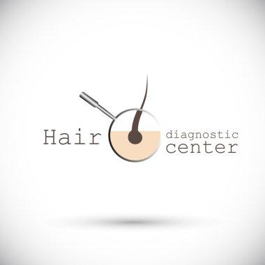 Logo diagnostic center hair health