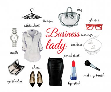 Business lady elegant set
