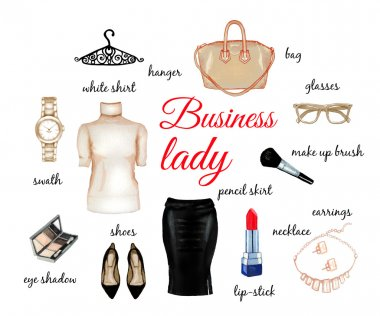 Business lady beige elegant set
