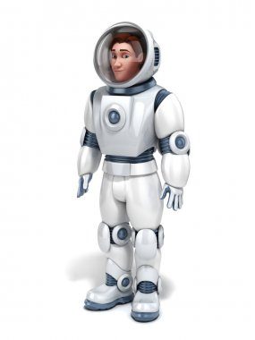 Astronaut 3d illustration