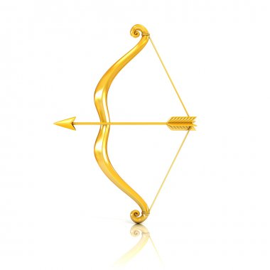 Golden bow and arrow