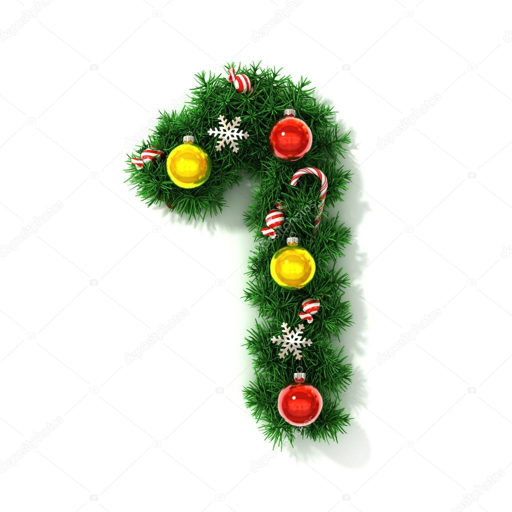 Christmas tree font number 1