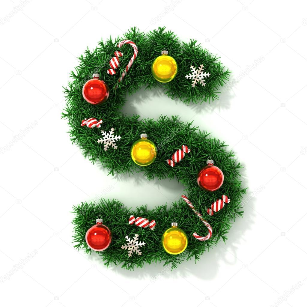 Weihnachten-Schriftart-Buchstabe S — Stockfoto © koya979 #73220121