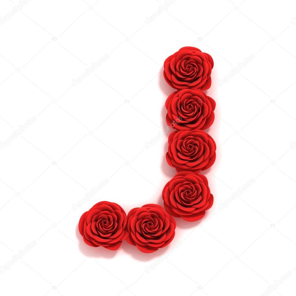 rose font letter J