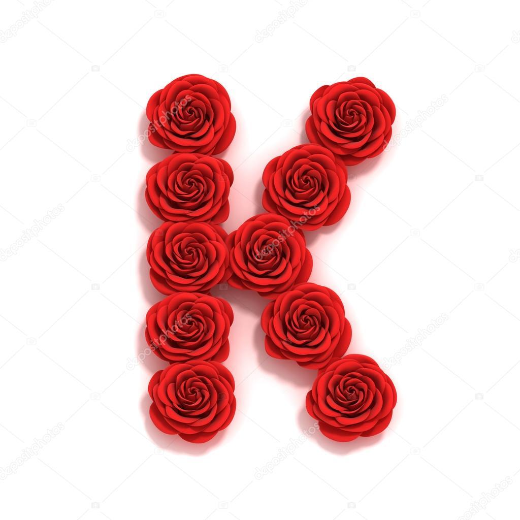 rose font letter K