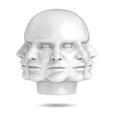 psychology, abstract human head