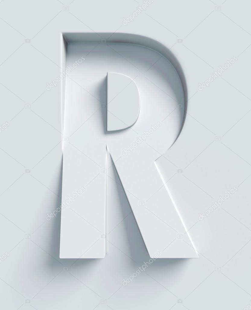 Paper Cut Letter R Realistic 3d Stock Vector (Royalty Free) 678991444   1024x832