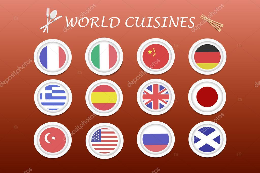 Vettore di cucina del mondo — Vettoriali Stock © frank11 #100080402