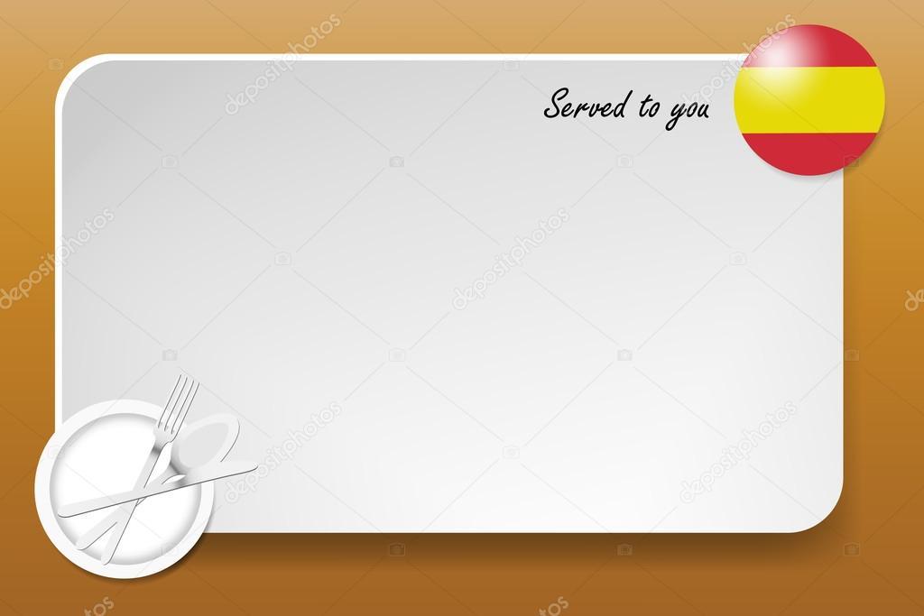 Schwarzes Brett für die spanische Küche — Stockvektor © frank11 ...