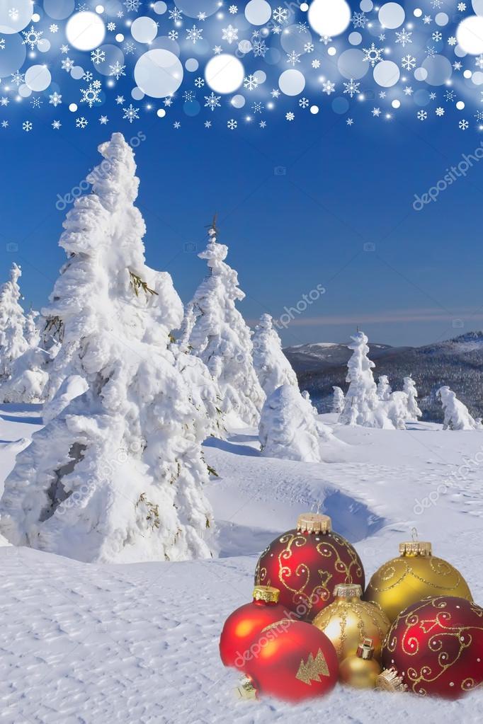 Kış Ve Yılbaşı Arka Plan Stok Foto Frank11 58731399