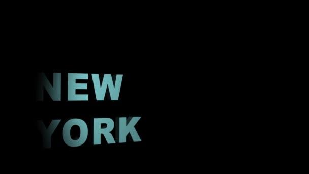 New York City cestování koncept