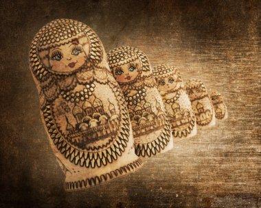 Russian wooden doll - Matryoshka - Vintage